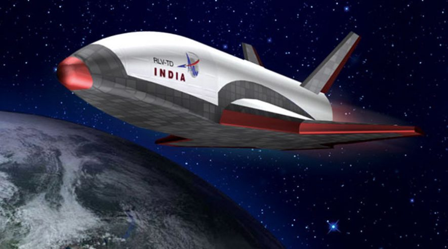 India space shuttle and earth