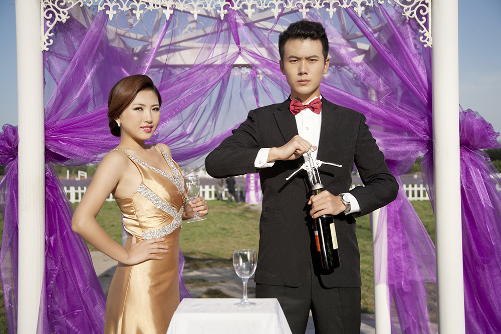 Chinese couple at formal event